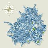Abstracte stadskaart Royalty-vrije Stock Fotografie