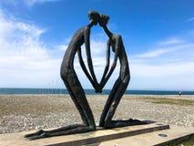 Abstracte standbeelden van mensen in liefde op het de Boulevard van Batumi Primorsky of Batumi-Strand Georgi?, Batumi, 17 April,  royalty-vrije stock afbeeldingen