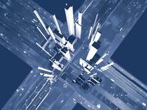 Abstracte stedelijke achtergrond royalty-vrije illustratie