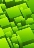 Abstracte stedelijke achtergrond in groen Stock Fotografie