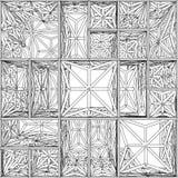 Abstracte Stedelijke Bouw in Chaosvector Stock Afbeelding