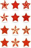 Abstracte sterren Stock Afbeeldingen