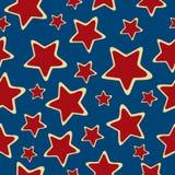 Abstracte sterren naadloze achtergrond. Stock Fotografie