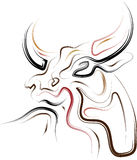 Abstracte Stier vector illustratie