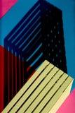 Abstracte stillevenmeetkunde van de schaduw royalty-vrije stock afbeelding