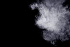 Abstracte stoom op een zwarte achtergrond Stock Foto's