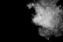 Abstracte stoom op een zwarte achtergrond Stock Afbeelding