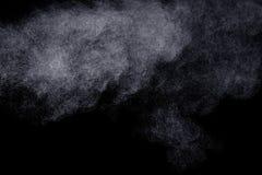 Abstracte stoom op een zwarte achtergrond Stock Fotografie