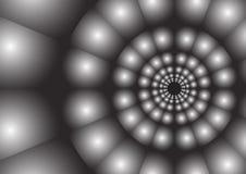 Abstracte straal van cirkelachtergrond royalty-vrije illustratie