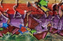Abstracte straatgraffiti stock afbeelding
