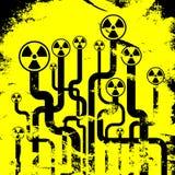 Abstracte stralingsachtergrond stock illustratie