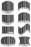 Abstracte streepjescode vectorillustratie Stock Foto's