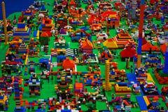 Abstracte stuk speelgoed blokken Royalty-vrije Stock Afbeeldingen