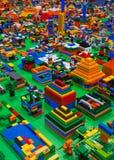 Abstracte stuk speelgoed blokken Stock Afbeelding