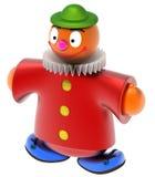 Abstracte stuk speelgoed clown Royalty-vrije Stock Afbeeldingen