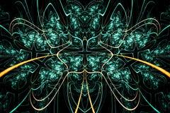 Abstracte surreal achtergrond met ster Fantasiefractal ontwerp voor affiches, behang Geproduceerde computer, digitaal art. In bla Stock Afbeelding