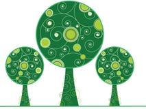 Abstracte swirly bomen Vector Illustratie