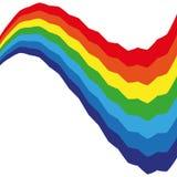 Abstracte Swirly-Regenboog Kleurrijke Achtergrond Stock Afbeelding