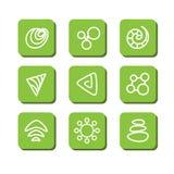Abstracte symbolen Stock Foto
