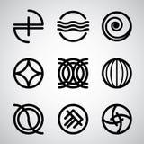 Abstracte symbolen vectorreeks Stock Foto's