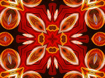 Abstracte symmetrie en kleuren Stock Foto