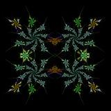 Abstracte symmetrische fractal achtergrond Stock Foto