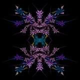 Abstracte symmetrische fractal achtergrond Stock Afbeelding