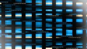 Abstracte technische achtergrond De het drijven cijfers van de HUD-achtergrond stock video