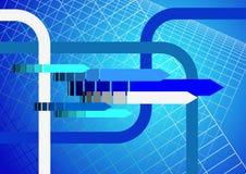 Abstracte technische blauwe achtergrond Royalty-vrije Stock Foto's