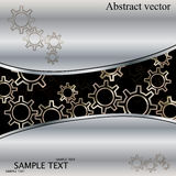 Abstracte technoachtergrond met metaaltoestellen. Royalty-vrije Stock Foto