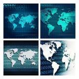 Abstracte technoachtergronden Stock Foto's