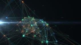 Abstracte technologieënachtergrond 4K stock footage