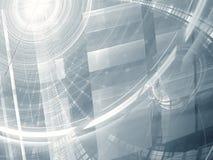 Abstracte technologie-achtergrond - digitaal geproduceerd beeld Royalty-vrije Stock Afbeeldingen