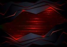 Abstracte Technologie-Achtergrond met Rode Elementen vector illustratie