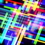 Abstracte technologie-achtergrond van kleurrijk licht en strepen Vector Royalty-vrije Stock Fotografie