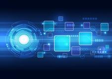 Abstracte technologie achtergrondontwerpvector Stock Afbeelding