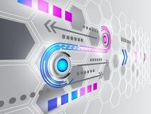 Abstracte technologie bedrijfsachtergrond, vectorillustratie Stock Foto's