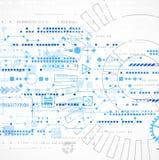 Abstracte technologie bedrijfsmalplaatjeachtergrond Stock Afbeelding