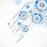 Abstracte technologie bedrijfsmalplaatjeachtergrond Stock Fotografie