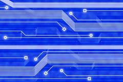 Abstracte technologie blauwe achtergrond Stock Fotografie