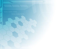 Abstracte technologie blauwe achtergrond. Royalty-vrije Stock Afbeelding