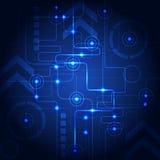 Abstracte technologie blauwe achtergrond Vector illustratie Royalty-vrije Stock Foto's