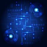 Abstracte technologie blauwe achtergrond Vector illustratie Royalty-vrije Stock Afbeeldingen