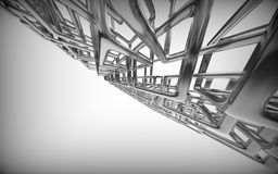 Abstracte technologie 3D achtergrond Stock Afbeelding