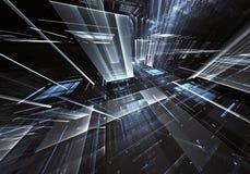 Abstracte technologie 3D illustratie Patroon, vlieger, banner, grafisch ontwerp Royalty-vrije Stock Afbeeldingen