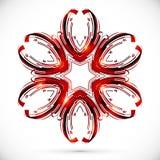 Abstracte technologie donkerrode bloem Royalty-vrije Stock Afbeeldingen