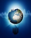 Abstracte technologie en milieuachtergronden Stock Afbeelding