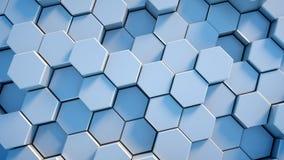 Abstracte technologie-honingraatachtergrond Stock Fotografie