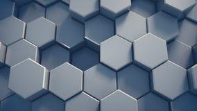 Abstracte technologie-honingraatachtergrond Royalty-vrije Stock Foto's