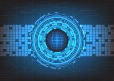 Abstracte technologie met blauwe achtergrond, vector Royalty-vrije Stock Foto